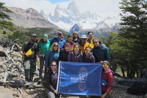 DukeBOLD team travels to Patagonia, Argentina to hike the Huemul Circuit (Winter 2017-2018)